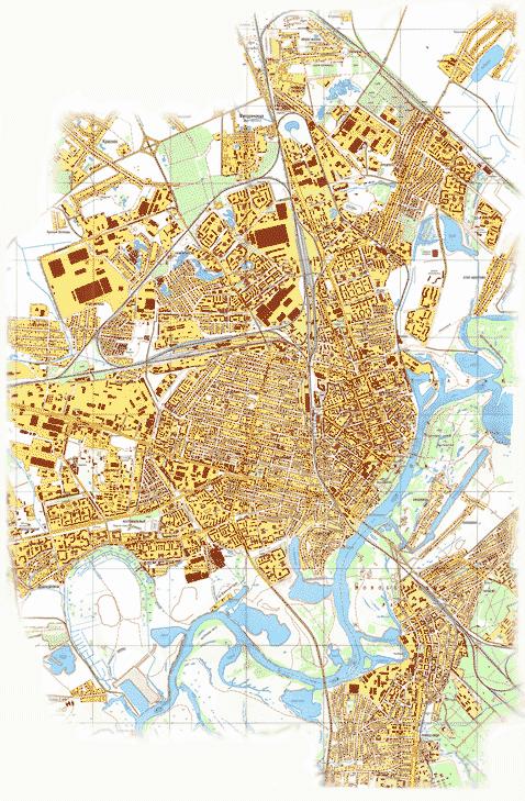 Карта Гомеля с номерами домов,